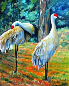 sandhill-cranes-at-twilight-carol-allen-anfinsen