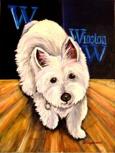 """Winston"" 9 x 12 oil on canvas"