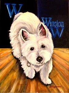 """""""Winston"""" 9 x 12 oil on canvas"""