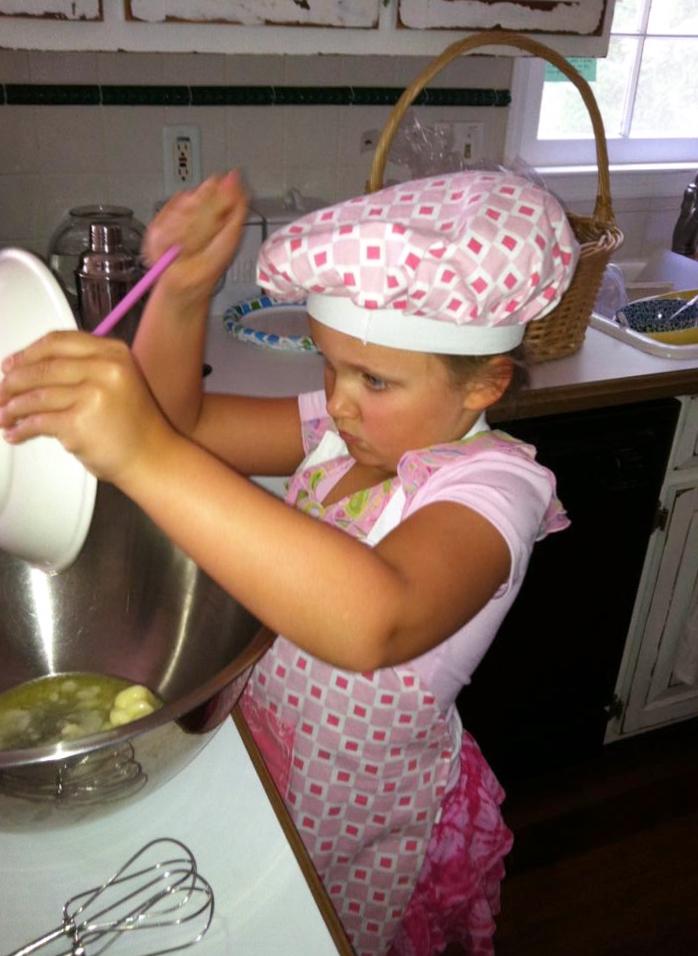 Adding more ingredients.