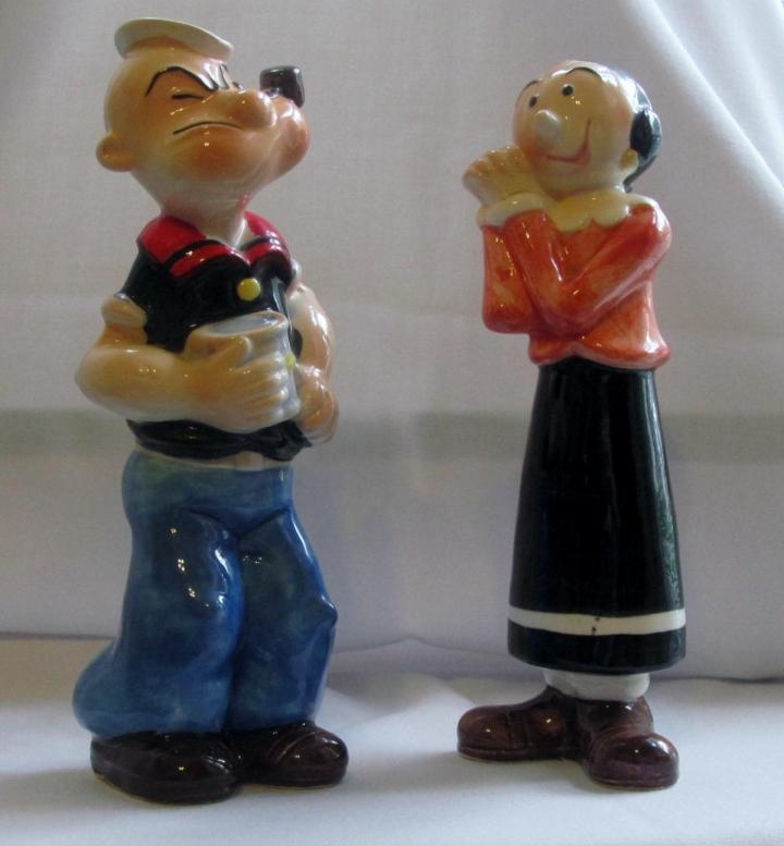 Popeye - Olive Oyl salt 'n pepper shakers