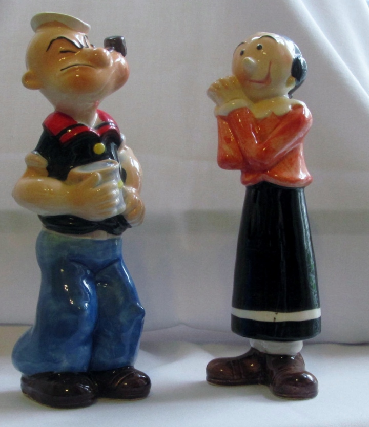 Popeye & Olive Oyl Salt 'n Pepper Shakers CLICK to PRICE