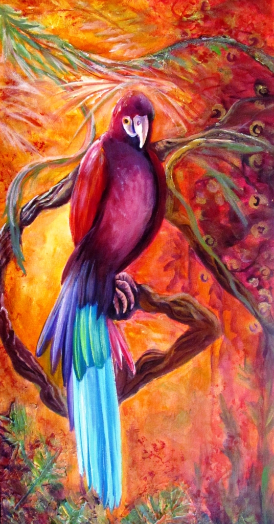 """""""Release"""" Panel 1 Tropical Parrot"""