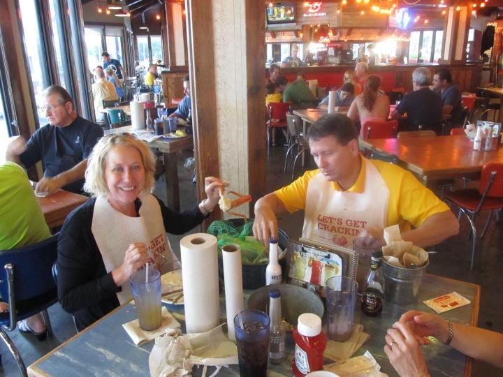 Family at Joe's Crab Shack