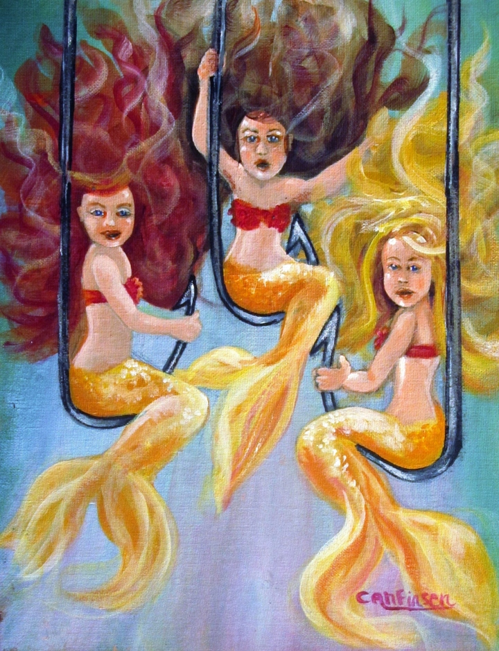 """The Neptunes -- Golden Girls"" 11 x 14 acrylic on panel"