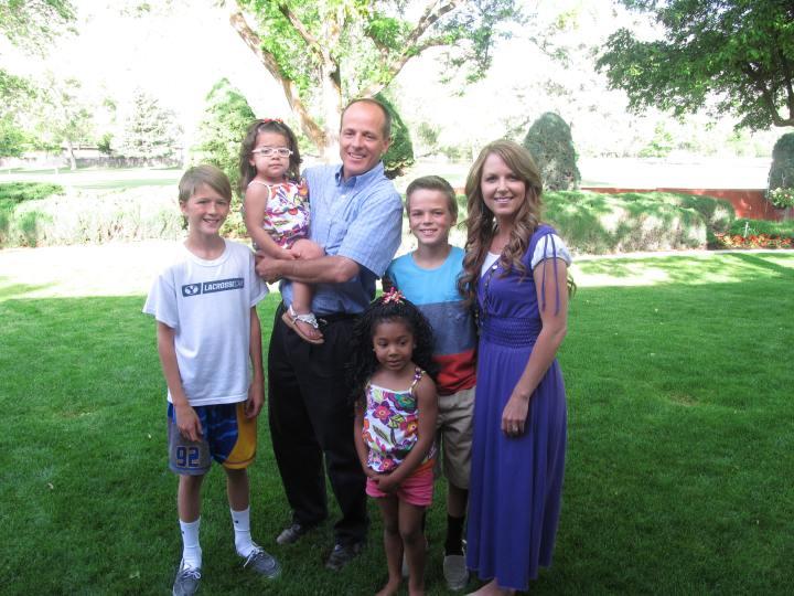 My nephew, Kirk's family.