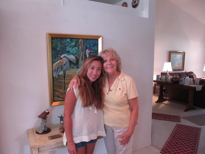 My granddaughter, Rachel and me