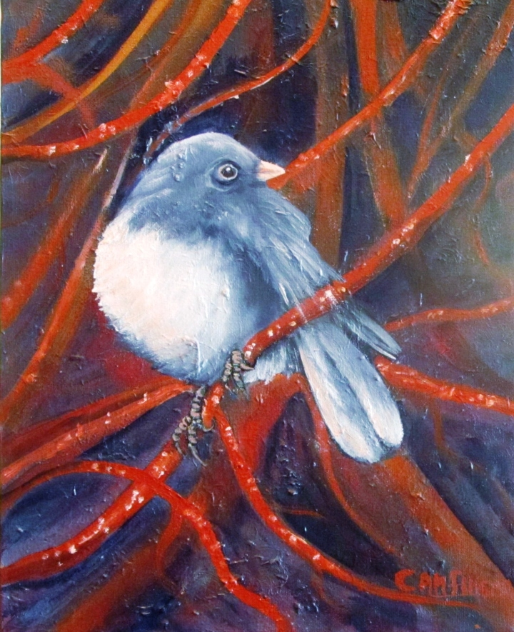 """Twitters and Twigs"" 11x14 oil on canvas"