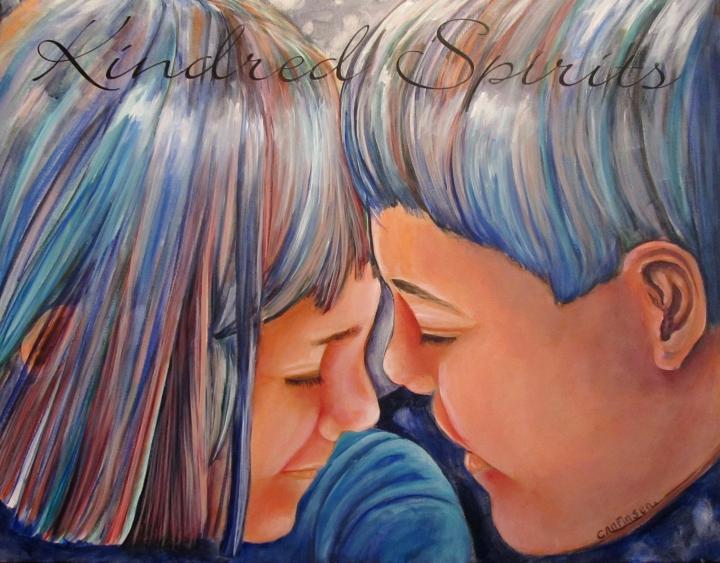 """Kindred Spirits II"" acrylic on canvas"