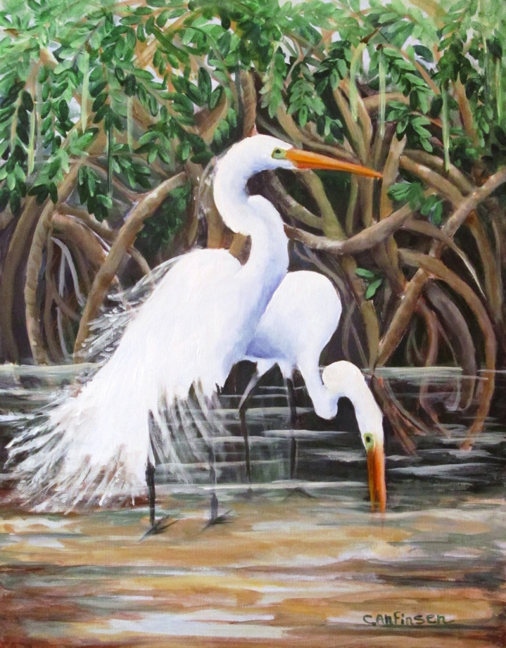 Egrets and Mangroves